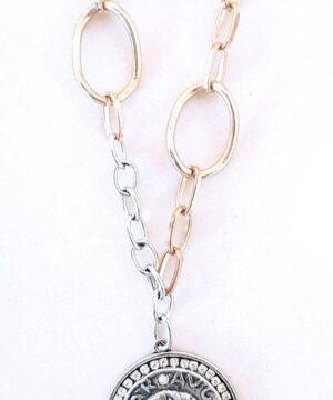 medalla cesar cadena corta