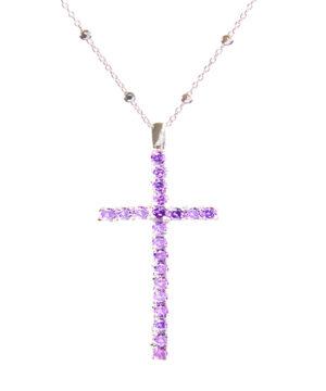 collar cruz plata de ley rosiers