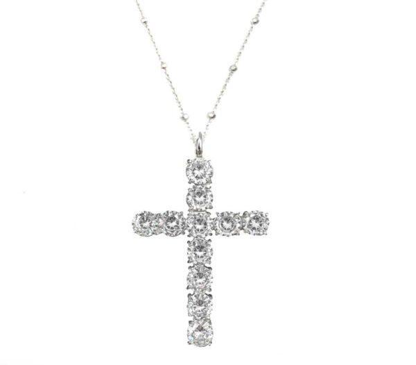 colgante plata cruz grande