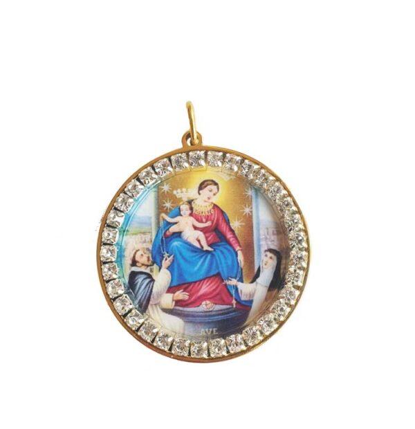 medalla virgen colgante