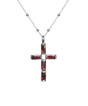 collar cruz roja