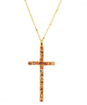 colgante cruz fina oro