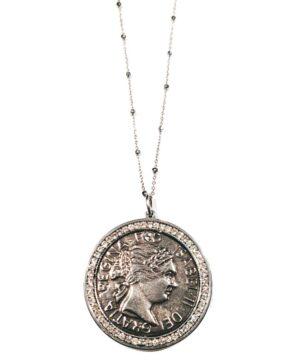 moneda medalla colgante