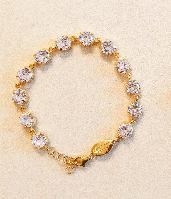 pulsera oro blanca