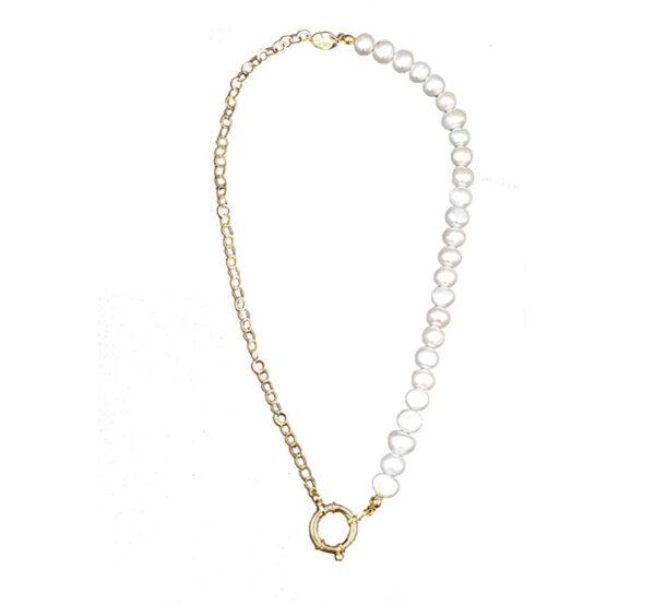 collar con perlas cultivadas de rio