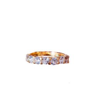 anillo dorado blanco