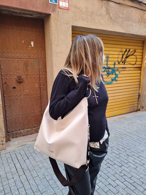 Bolso Rue Vivienne beige